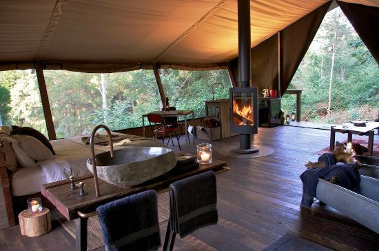 nightfall wilderness tent interior