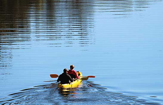 the escape south-coast-glamping kayak