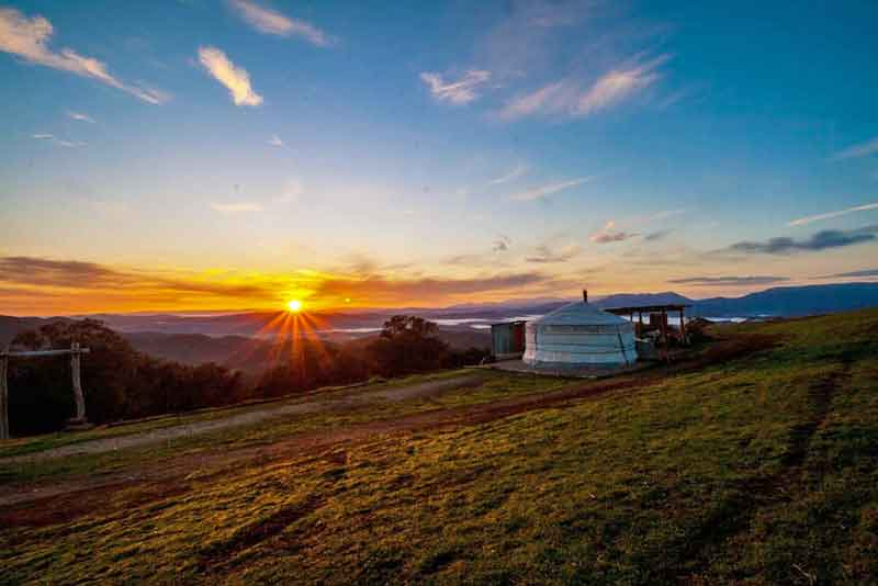 The Yurt Alpine Retreat, Victoria