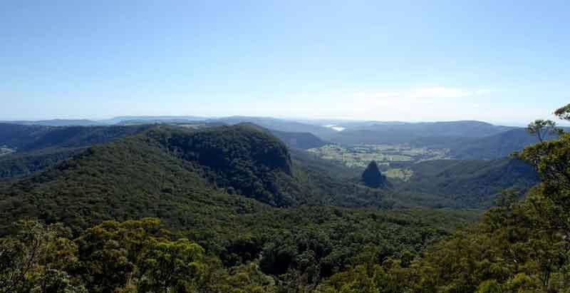 lamington national park view