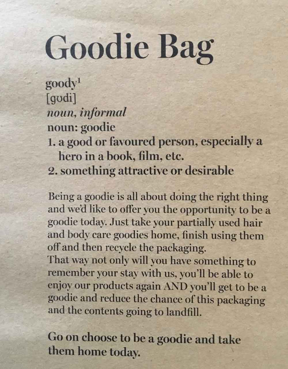 Goodie Bag
