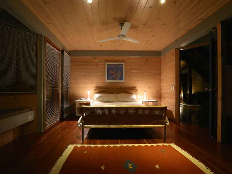 bombah point eco cottages bedroom