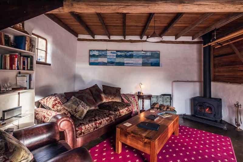 The Cob Barn Living Area