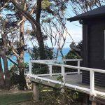 Pebbly Beach escape cabin view