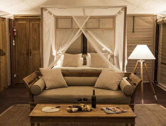 Glamping NSW near Sydney Turon Gates  Bed and Lounge