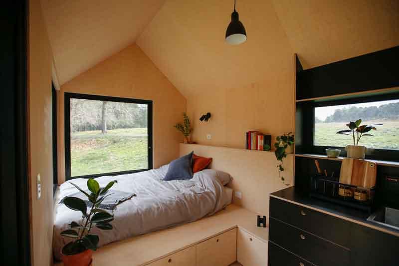 Eco Hut bed