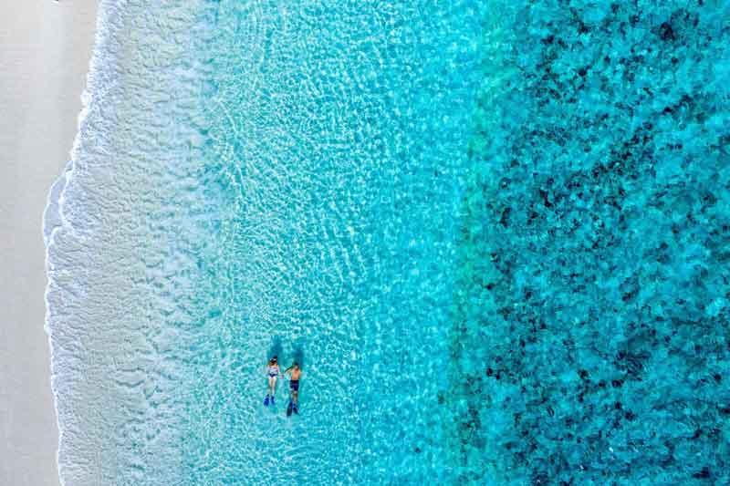 Wilson-Island-aerial-snorkelling