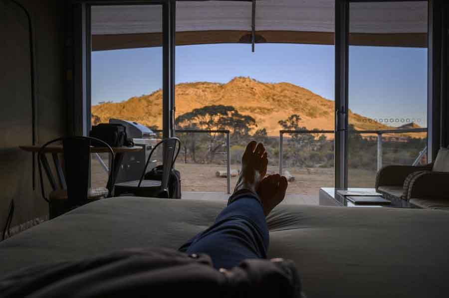 Flinders-Bush-Retreats-eco-tent-view-from-bed