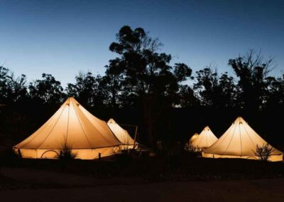 Bay of Fires Bush Retreat Bell Tents, Tasmania