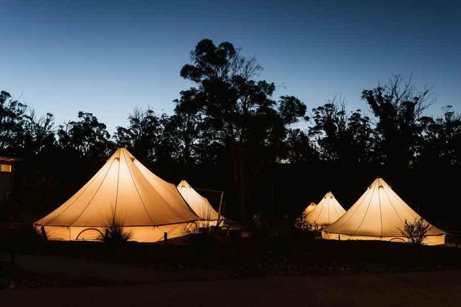 Bay-of-Fires-Bush-Retreats-Bell-Tents-Night