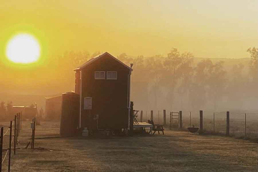 Watagan-View-Tiny-House-sunset
